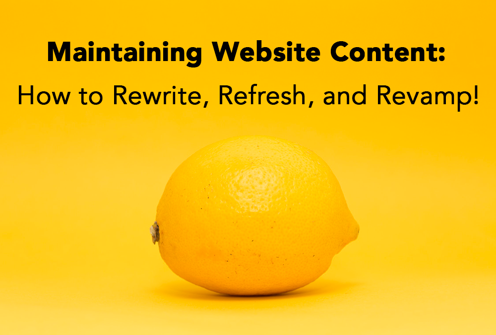 maintaining website content